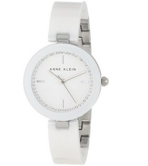 Anne Klein Women's AK/1315WTWT White Ceramic Bangle Watch