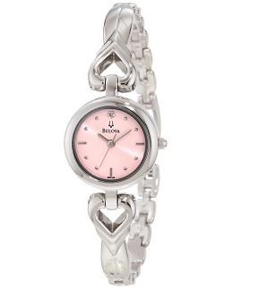 Bulova Women's 96P136 Open Heart Bracelet Watch