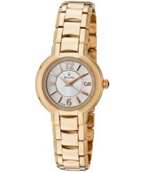 Bulova Women's Fairlawn Light Silver Dial Rose Gold Tone Stainless Steel