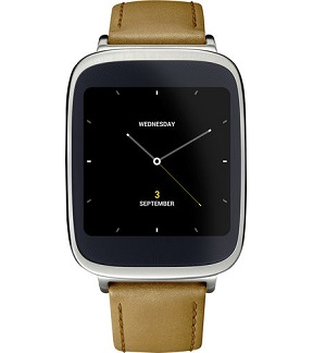 ASUS ZenWatch w/ Light Brown Leather Strap