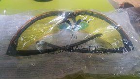 Pyramex Surveyor Safety Glasses, Black Frame Amber Lens