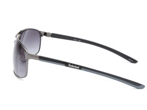 Timberland Unisex Gunmetal Rectangle Sunglasses - Gunmetal / Gray