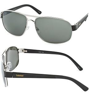 Timberland Men's Fashion Sunglasses - Silver / Dark Green