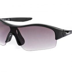 Timberland Men's Wrap Around Sunglasses - Black / Dark Purple