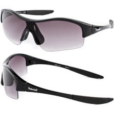 Timberland Men's Wrap Around Sunglasses - Black / Dark Purple