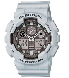 Casio G-Shock Big Case Digital-Analog GA100 Watch in Ice Gray (GA100LG-8A)