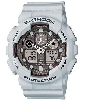 Casio G-Shock Big Case Digital-Analog GA100 Watch in Ice Gray (GA100LG-8A)