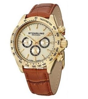 Stuhrling Original Men's Triumph Classic Multifunction Gold Tone Watch