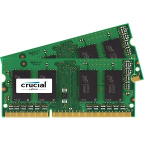 Crucial 8GB DDR3/DDR3L-1600 MHz 204-Pin SODIMM Memory for Mac