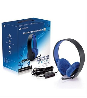 Sony PlayStation Silver Wired Stereo Headset – PS4