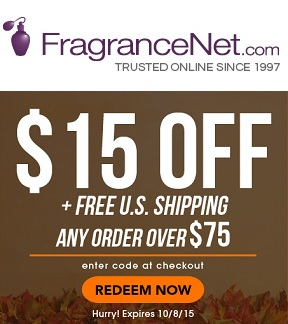 $15OFF$75 Fragrancenet.com