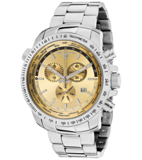 Swiss Legend SL-10013-10 World Timer Chronograph Stainless Steel Champagne Dial