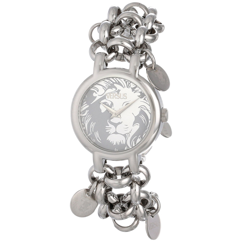 Versus by Versace Women's SGO010013 Agadir Analog Display Japanese Quartz Silver Watch