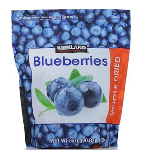 Việt Quất sấy khô Kirkland Signature Dried Whole Dried Blueberries – 567g