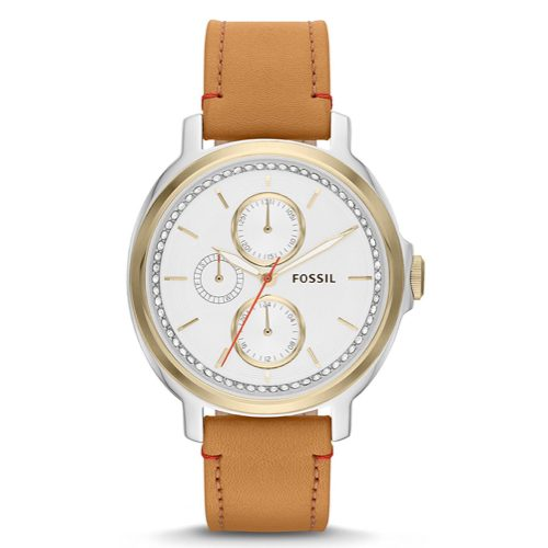 Fossil Women's ES3523 Chelsey Two-Tone Stainless Steel Watch with Leather Band