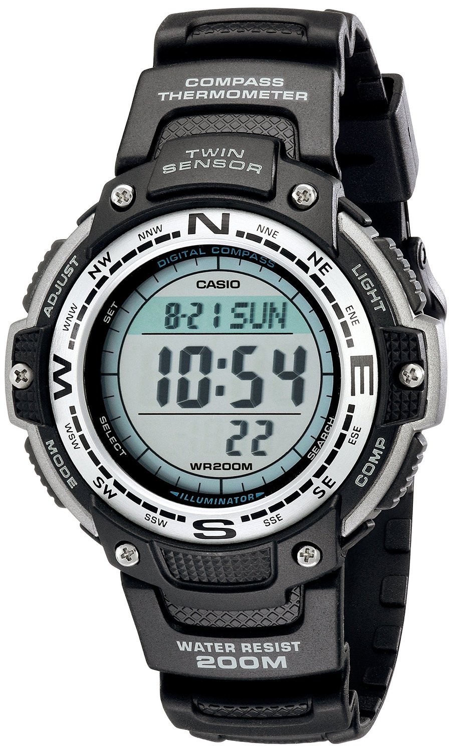 Casio Men's SGW100-1V Twin Sensor Digital Watch