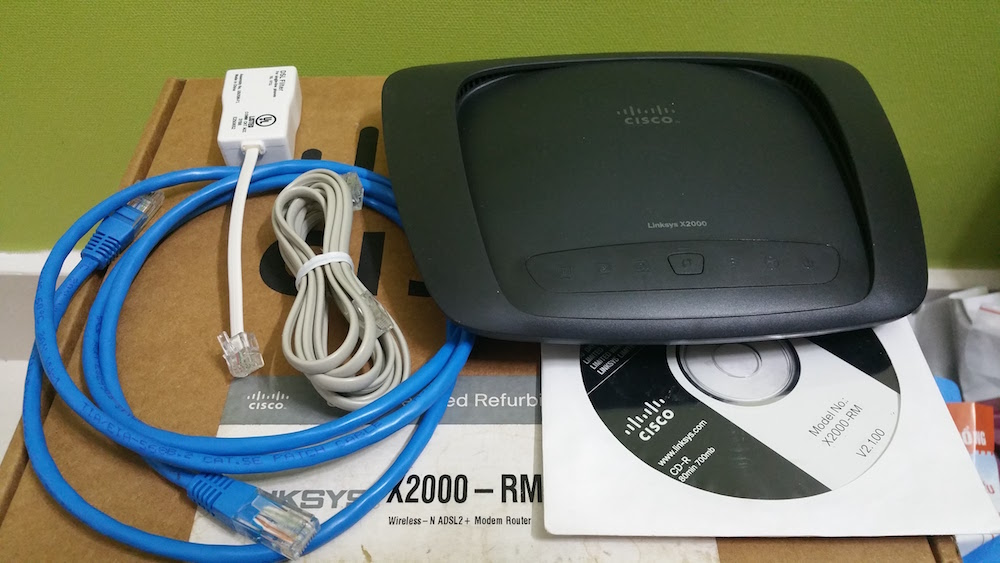 Linksys X2000 Wireless-N Router with ADSL2+ Modem - Refurbished