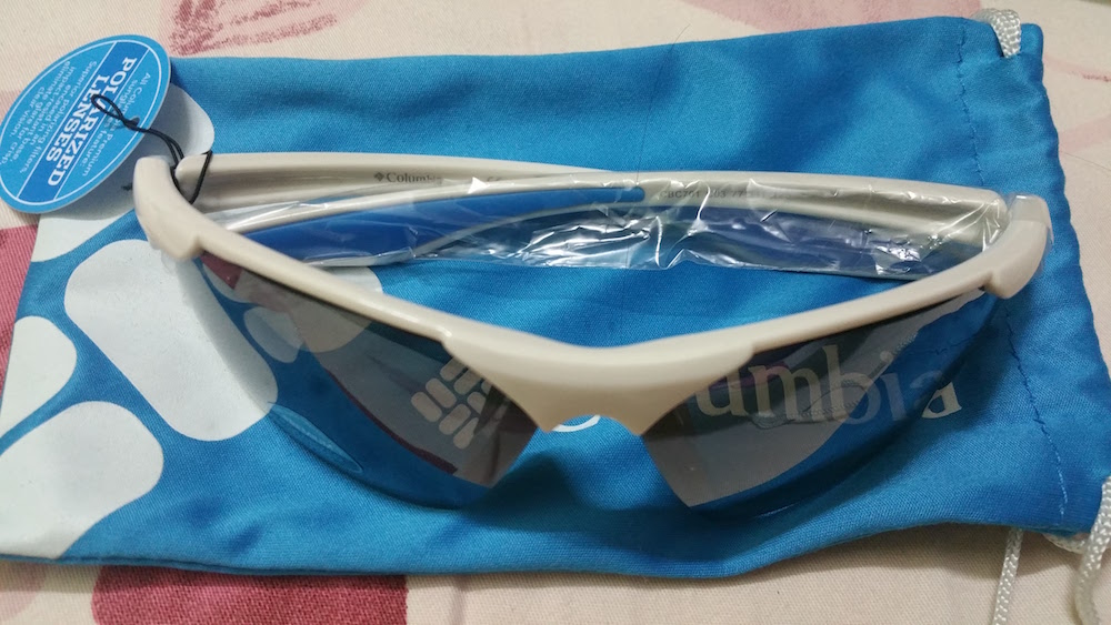 Columbia Men's Sports White Sunglasses
