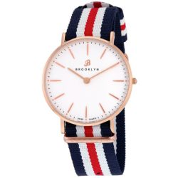 Brooklyn Flatland Casual Super Slim Swiss Quartz Watch Item No. BW104-U31134