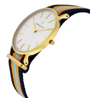 Đồng hồ Brooklyn Flatland Casual Super Slim Swiss Quartz - Gold Tone