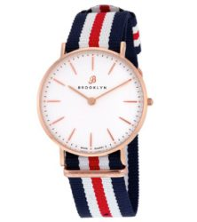 Đồng hồ Brooklyn Flatland Casual Super Slim Swiss Quartz - Rose Tone