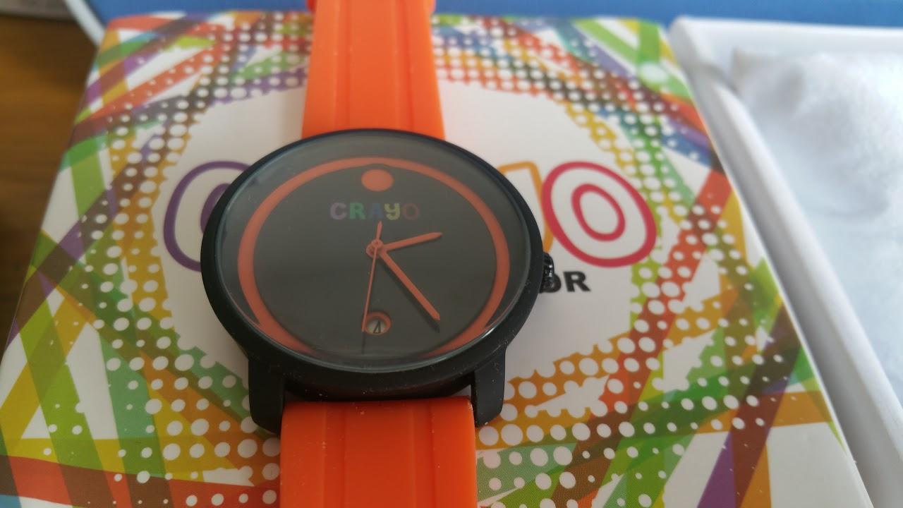 Đồng hồ Crayo - Cam