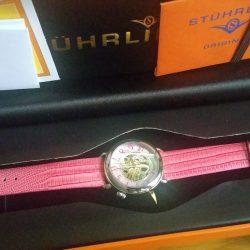 Đồng hồ tự động dành cho Nữ hiệu Stuhrling Original 108.1215A9 Automatic Skeleton Pink Watch
