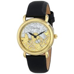 Stuhrling Original Women's 715.02 Vogue Jezebel Analog Display Swiss Quartz Black Watch