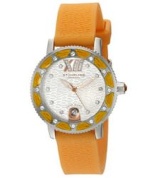 Stuhrling Original Women's 225R.1116F2 Nautical Regatta Marina Orange Luminous Date Watch with Swarovski Crystal Accents