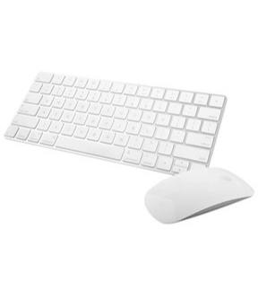Apple Wireless Magic Keyboard 2 -MLA22LL/A with Apple Magic Bluetooth Mouse 2 -MLA02LL/A (Certified Refurbished)