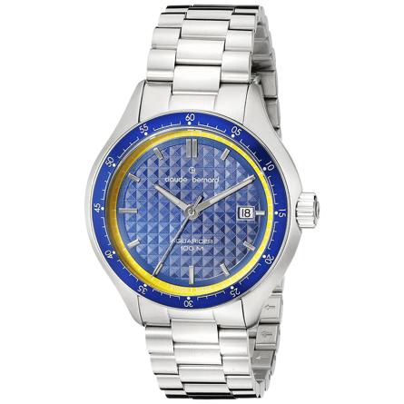 Claude Bernard 70166 3BM BUJ Analog Display Swiss Quartz Silver Watch