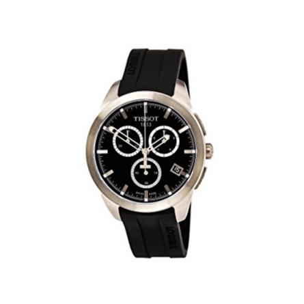 Tissot T-sport Titanium Black Dial Rubber Mens Watch T0694174705100