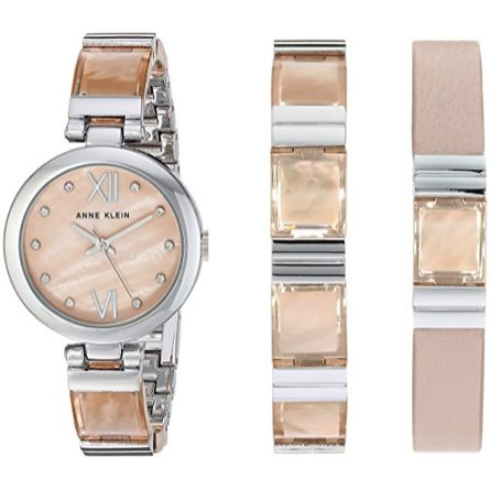Anne Klein Women's AK/2749LPST Silver-Tone Watch