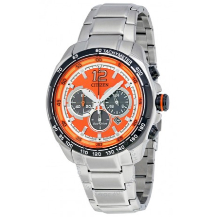 CITIZEN CA4234-51X Eco-Drive Orange Dial Men's Chronograph Watch