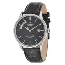 EDOX 83007-3-NIN MEN'S LES VAUBERTS DAY DATE AUTOMATIC WATCH