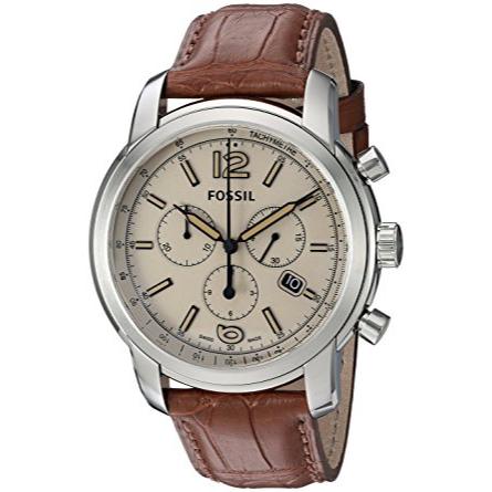 Fossil FSW7007 Swiss FS-5 Series Quartz Chronograph Alligator Watch