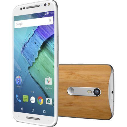 Moto X Pure Edition 64GB Smartphone (Unlocked, White/Bamboo)