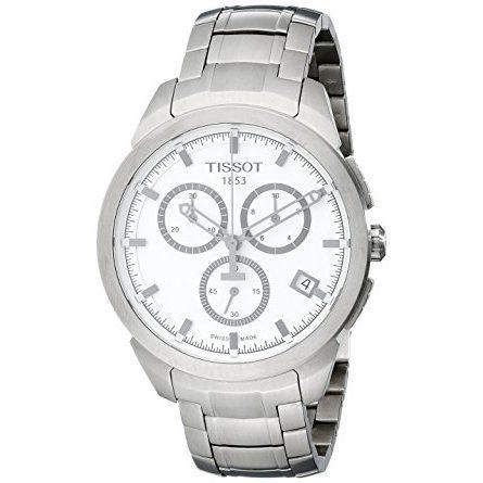 Tissot Men's T0694174403100 Quartz Titanium White Dial Chronograph Watch