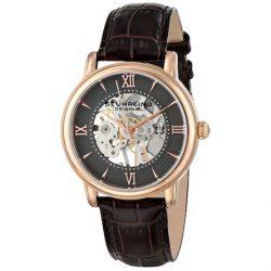 Stuhrling Original Men's 458G2.3345K54 Classic Chamberlain Hand Wind Brown Watch