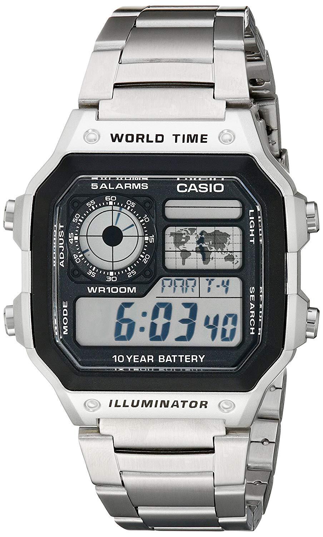 đồng hồCasio AE1200WHD-1A vàCasio Men's AE1200WH-1A