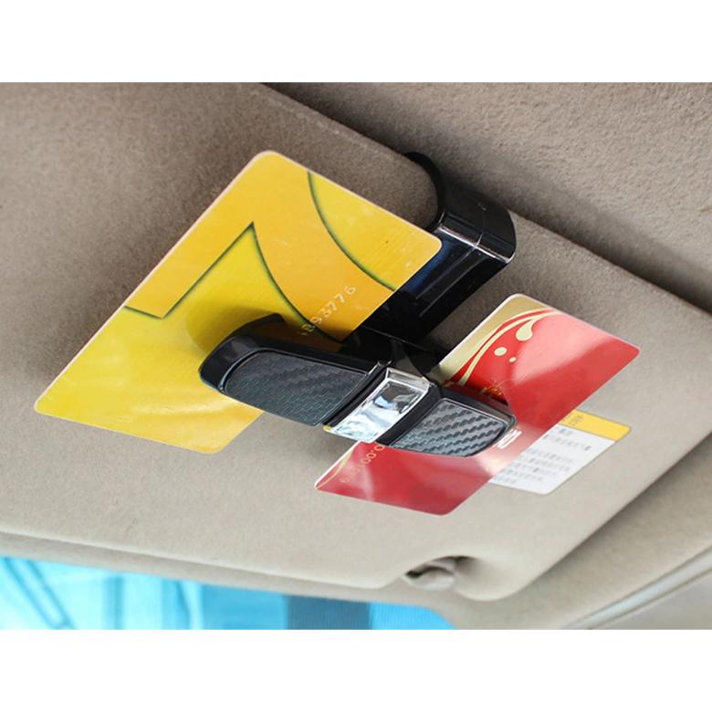 Phụ kiện ô tô - Dụng cụ kẹp giấy thẻ kính xoay 360