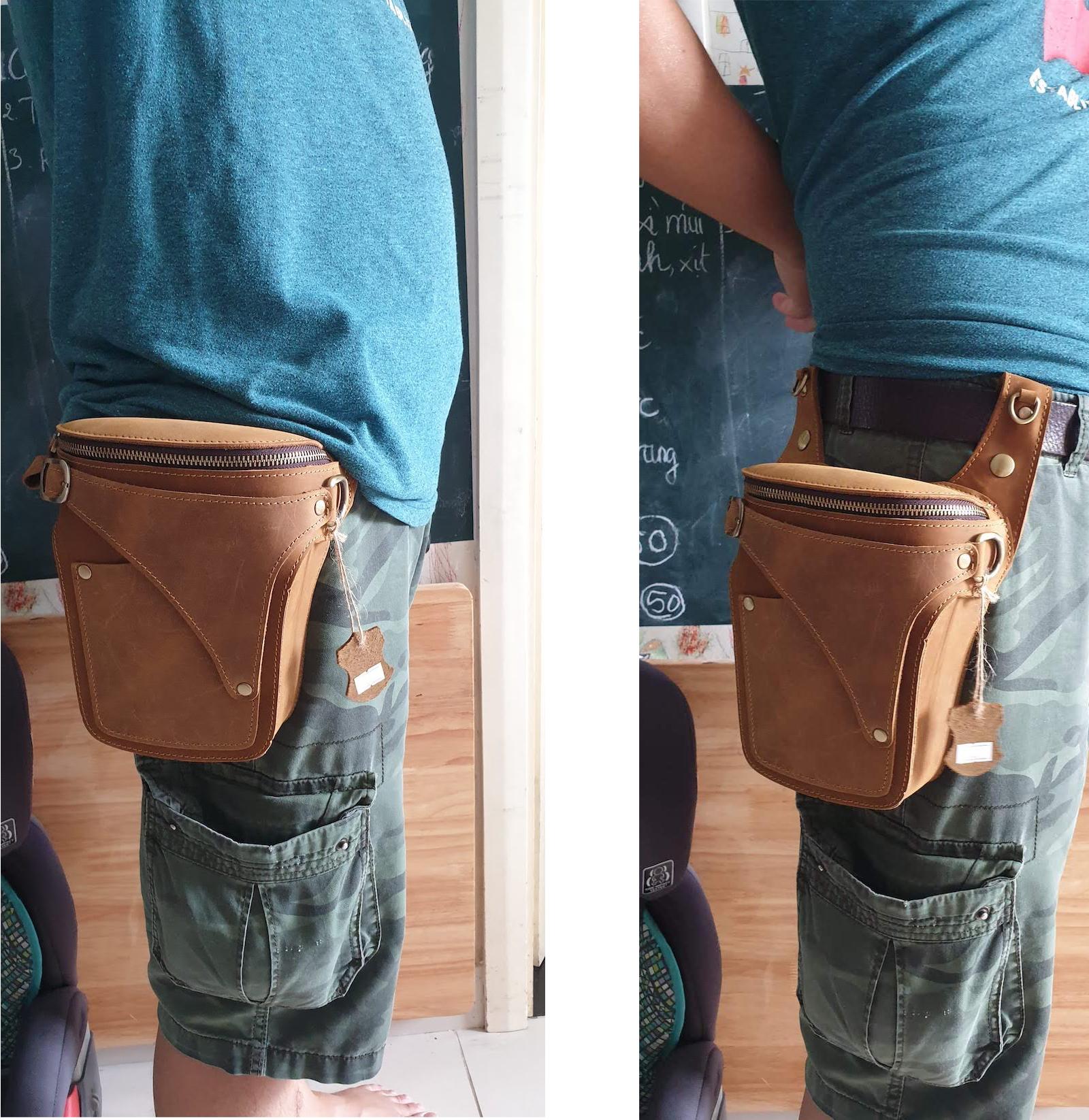 Túi đeo thắt lưng du lịch - Da ngựa